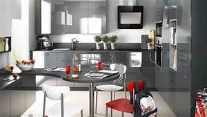 Modele Cuisine En L : modele de cuisine design de cuisine cuisines francois ~ Teatrodelosmanantiales.com Idées de Décoration