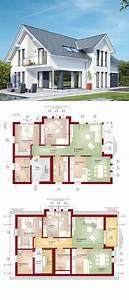 Bauen Zweifamilienhaus Grundriss : zweifamilienhaus mit satteldach loggia und balkon haus ~ Lizthompson.info Haus und Dekorationen