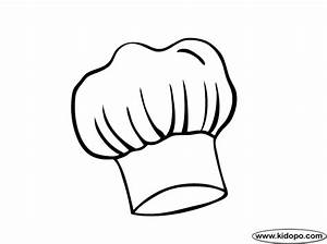 chefs hat coloring page With chef hat template printable