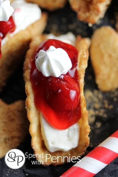 cheesecake dessert tacos  bake cheesecake