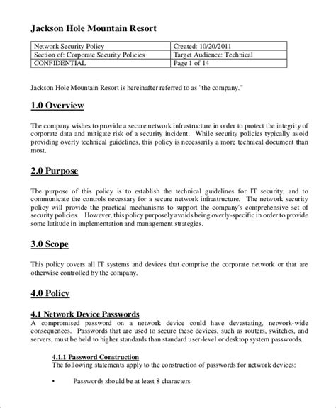 security policy template 8 security policy sles sle templates