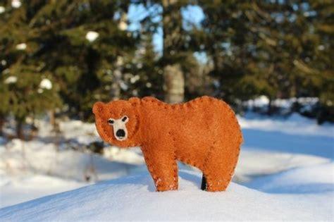 great grizzly bear printable pattern felt animal