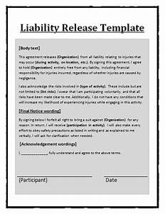 free printable liability release form sample form generic With release from liability form template