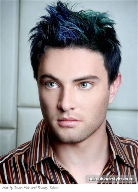 Men's take on the colorful dip dye hair effect   MENS