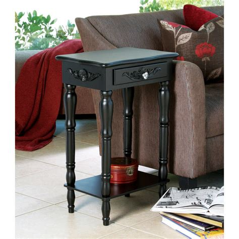 Living Room Side Tables Ebay by Colonial Carved Side End Table Nightstand Black