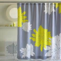 yellow and gray shower curtain furniture ideas