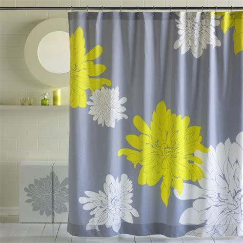 Yellow And Gray Curtains by Yellow And Gray Shower Curtain Furniture Ideas