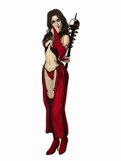 Sorceress Female Bikini Cape Woman Illustrations Hair