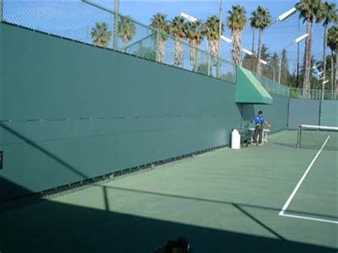 tennis windscreen vinyl fence screen