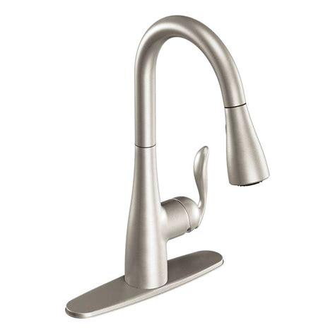 arbor kitchen faucet shop moen arbor stainless 1 handle pull kitchen