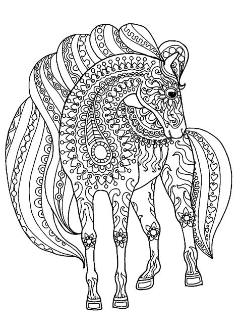 horse coloring pages  adults  coloring pages  kids
