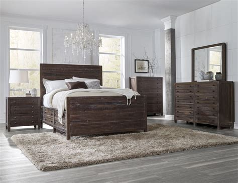 piece townsend solid wood panel storage bedroom set