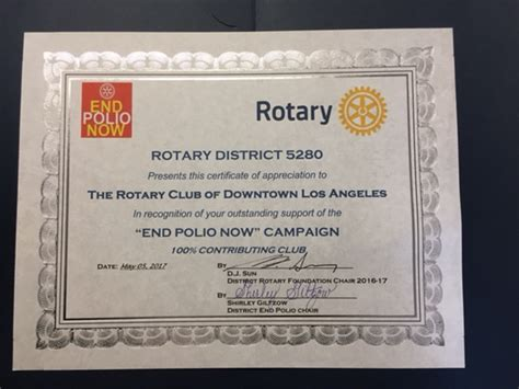 Rotary Club Certificate Template by Home Page Rotary Club Of Downtown Los Angeles