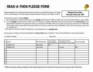excellent pledge form template ideas resume ideas With charity pledge form template