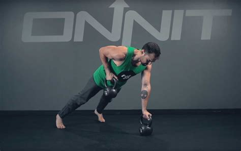renegade row kettlebell exercise academy bear fitness