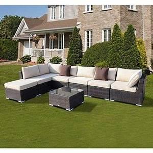 ensemble salon de jardin canape resine rotin tressee noir With lovely exemple de jardin de maison 2 salon de jardin tresse