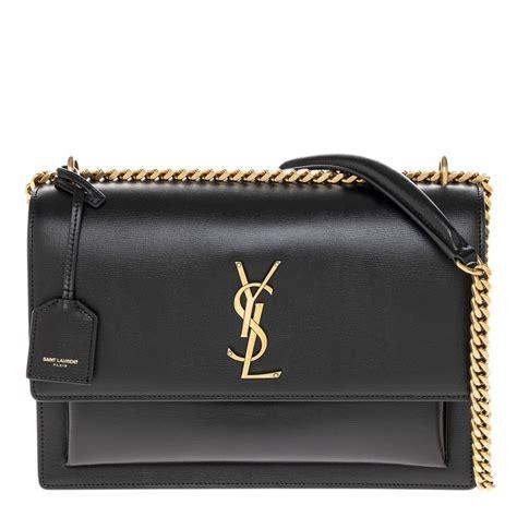 yves saint laurent womens sunset large monogram ysl crossbody bag black guaranteed