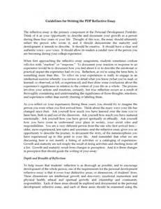 life senior reflection essay