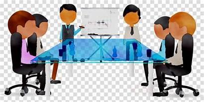 Clipart Meeting Desk Cartoon Business Transparent Illustration