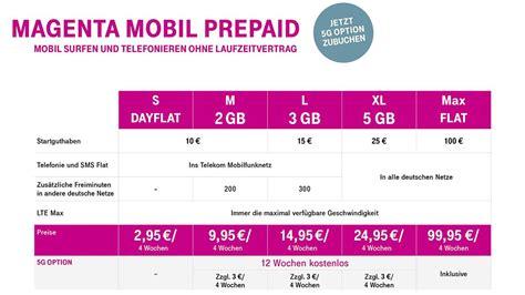 neue telekom prepaid angebot mehr datenvolumen  und