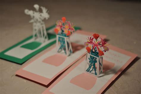 Flower Pop Up Card Templates by Flower Bouquet Pop Up Card Template Creative Pop Up Cards