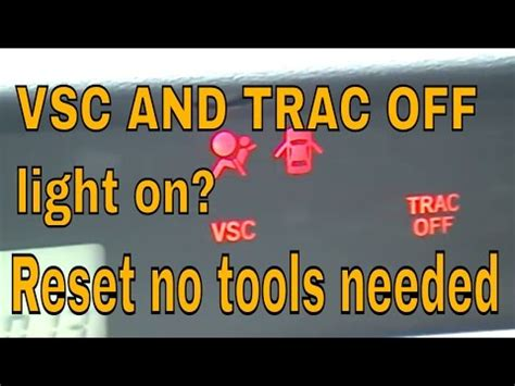 trac off light toyota camry vsc and trac off light on scion youtube