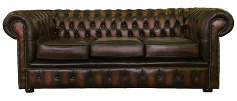 Genuine Leather Chesterfield Three Seater & Two Club