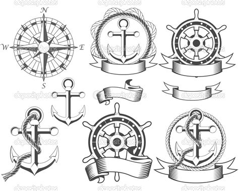 Clip Art Black And White Nautical Clipart