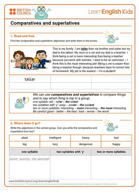 calameo grammar games comparatives  superlatives