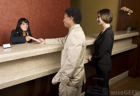 hotel front desk clerk what happens in the front office of a hotel with pictures