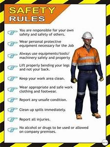 Nanotek Safety Rules Posters  Cm Pack