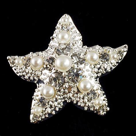 Starfish Brooch BH9385 Silver Starfish brooch Faux