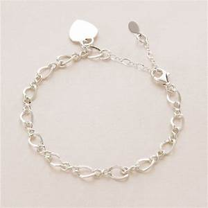 Adjustable Sterling Silver Charm Bracelet with Engraved ...