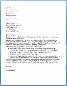 project manager cover letter examples resume downloads With sample cover letter for project officer