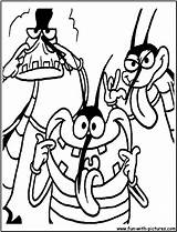 Oggy Coloring Cartoon Network Pages Cockroaches Regular Colouring Zero Waste Printable Characters Fun Popular Joey sketch template