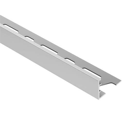 schluter rondec satin nickel anodized aluminum 1 2 in x 8 ft 2 1 2 in metal bullnose tile