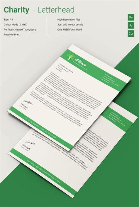 lavish charity  letterhead template  premium