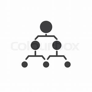Hierarchical Structure Icon Vector  Filled Flat Sign