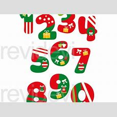 Christmas Numbers Clip Art Graphics By Revidevi  Teaching Resources Tes