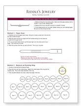 find  correct ring size   printable ring size chart riddles jewelry