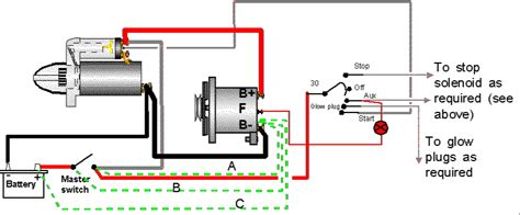 System Wiring Diagram Alternator Battery