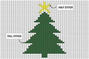 Big Box Graph Paper 12 Days Of Making Christmas Tree Duplicate Stitch Wool