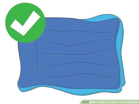 air mattress leak 3 ways to patch a leak in an air mattress wikihow