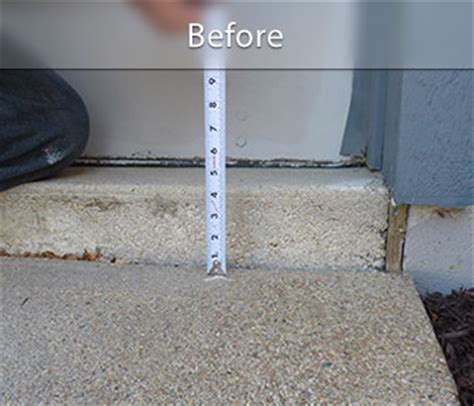 concrete lifting before and after photos raising sunken