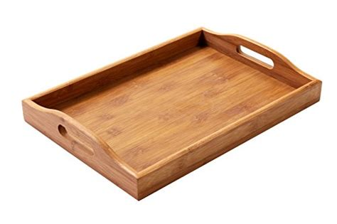 Juvale Cominhkpr96393 Wood Food Serving Tray With Double