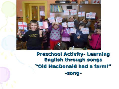 macdonald had a farm song preschool activity learning 641 | old macdonald had a farm song preschool activitylearning english through songs 1 728