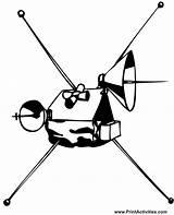 Satellite Coloring Space Drawing Sketch Coloringpages Getdrawings Template sketch template