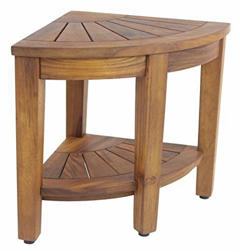 awardpedia 15 5 quot teak shower bench with shelf from the