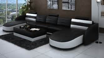 livingroom chaise leather chaise sectional in black and white plus rectangle coffee table in apartment