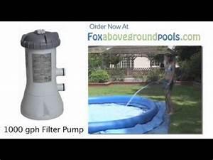 Intex 1000 Gph Pool Filter Pump Model 58637e